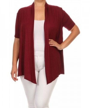 Private Label Asymmetric Cardigan Burgundy