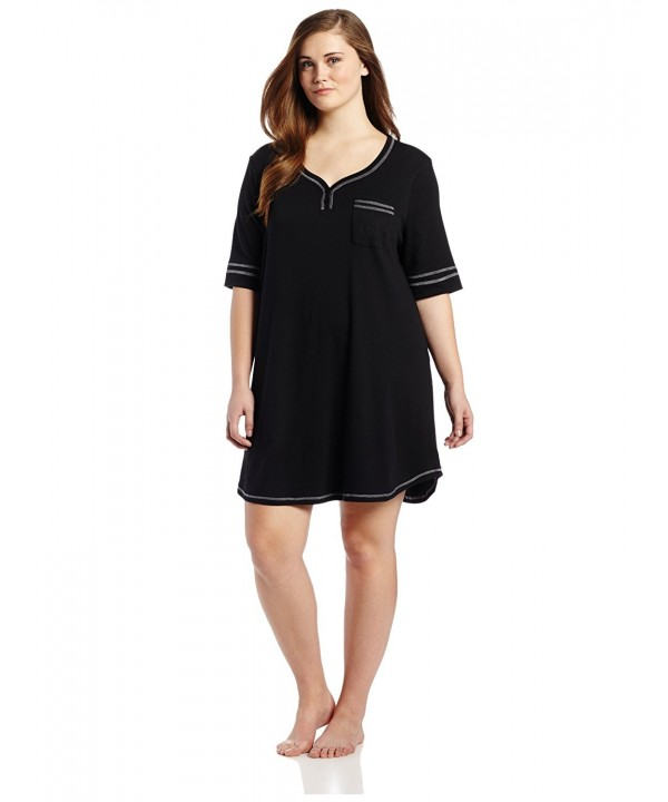 Karen Neuburger Womens Plus Size Nightshirt