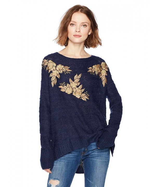 Ella Moon Applique Pullover Sweater