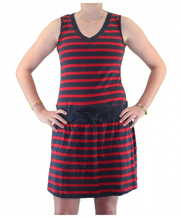 Maks Design Ladies Cover up Red Navy