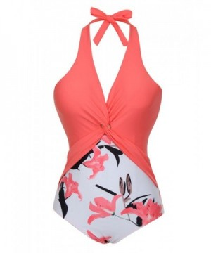 FeelinGirl Backless Swimsuit Waisted Swimwear