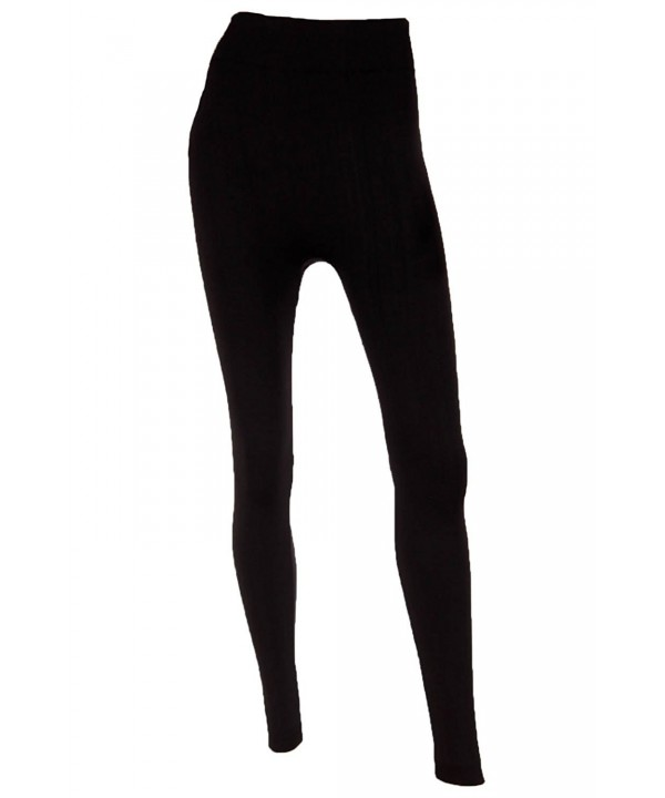 Mopas Womens Fleece Length Leggings Black