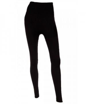 Mopas Womens Fleece Length Leggings Black