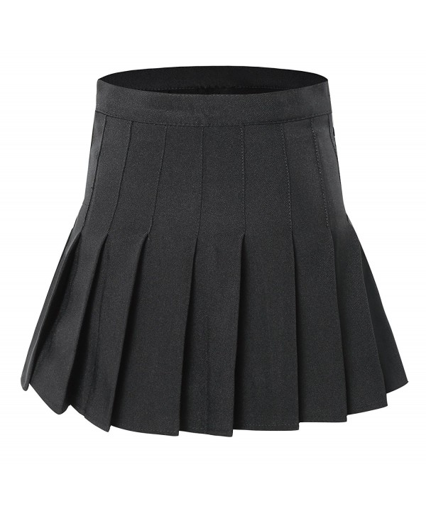 Womens Waist Solid Pleated Tennis