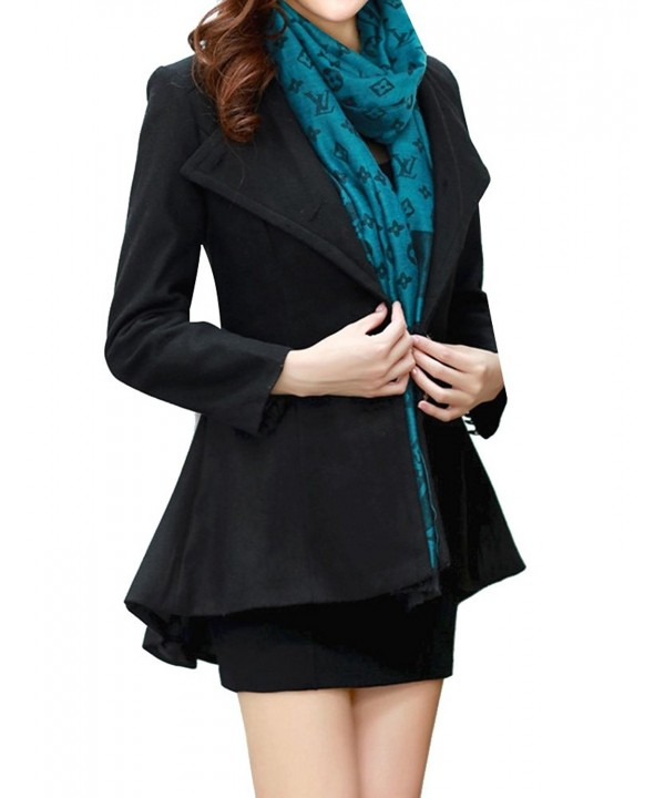 GRAPENT Womens Casual Asymmetrical Blazer