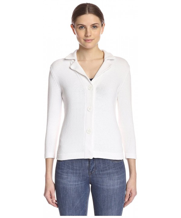Kier Womens Solid Blazer Blanc
