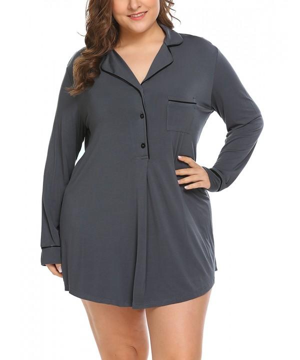 Involand Sleepshirts Womens Nightshirts Sleepwear