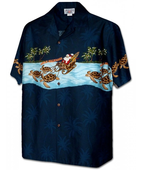 Pacific Legend Turtle Christmas 3918 NAVY XL