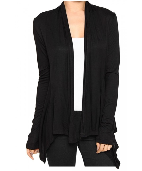 KMystic Womens Draped Front Cardigan