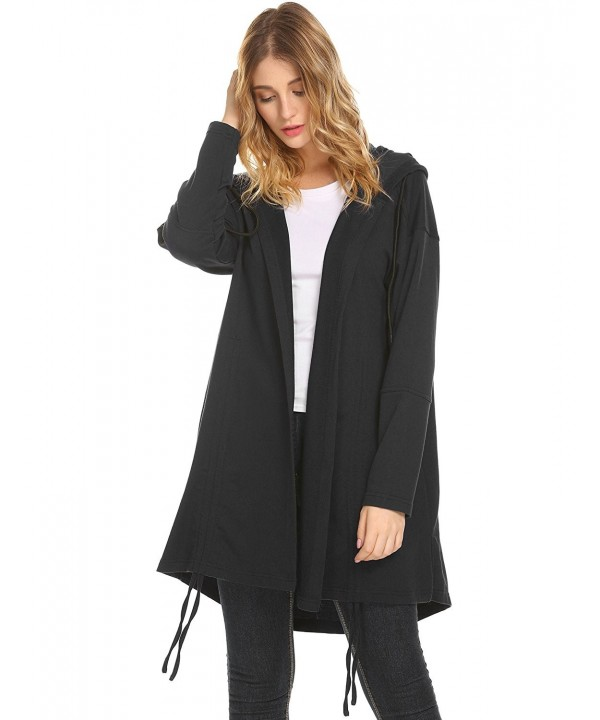 Womens Lightweight Drawstring Casual Cardigan