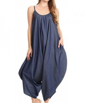 Sakkas 534 Sleeveless Jumpsuit Chambray