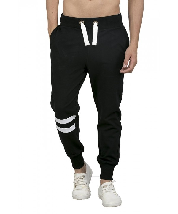 Bewakoof Fleece Jogger X Large Black White