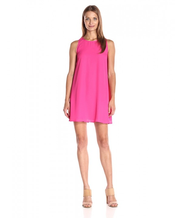 Lucca Couture Womens Sleeveless Fuchsia