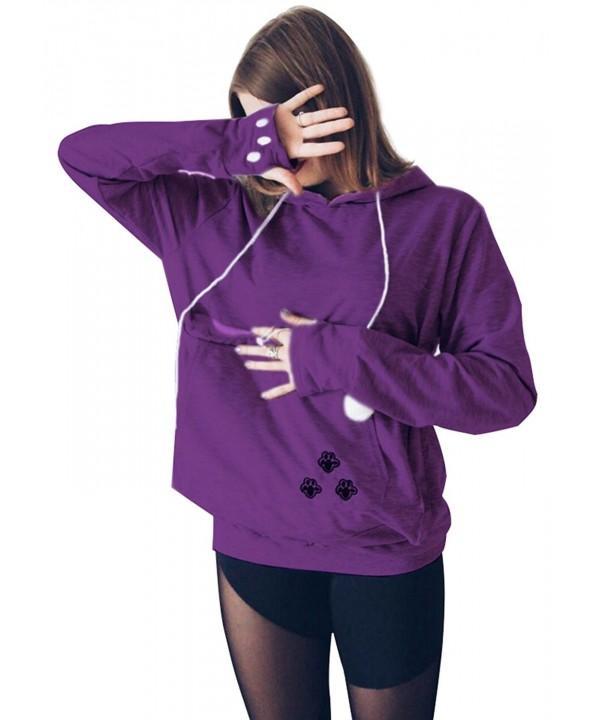 Kingdilor Womens Kangaroo Carrier Sweatshirt
