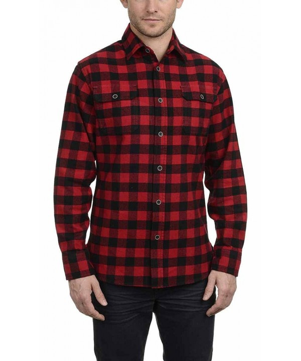 Jachs Brawny Flannel Button Buffalo