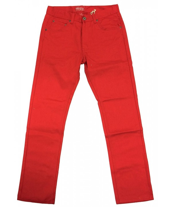 PARISH NATION Twill Denim Crimson