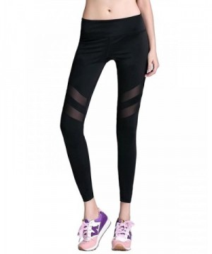 8c44711dbd3d4 Women's Mesh Leggings Yoga Pants Mid Waist Stretch Workout Active ...