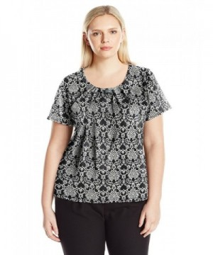 Notations Womens Printed Pullover Walltown
