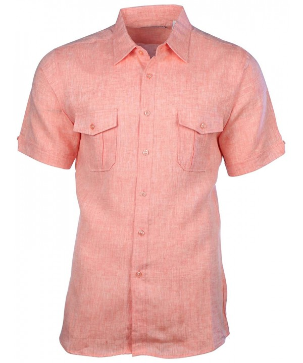 Mojito Collection 2 Pocket Sleeve Shirt Orange Medium