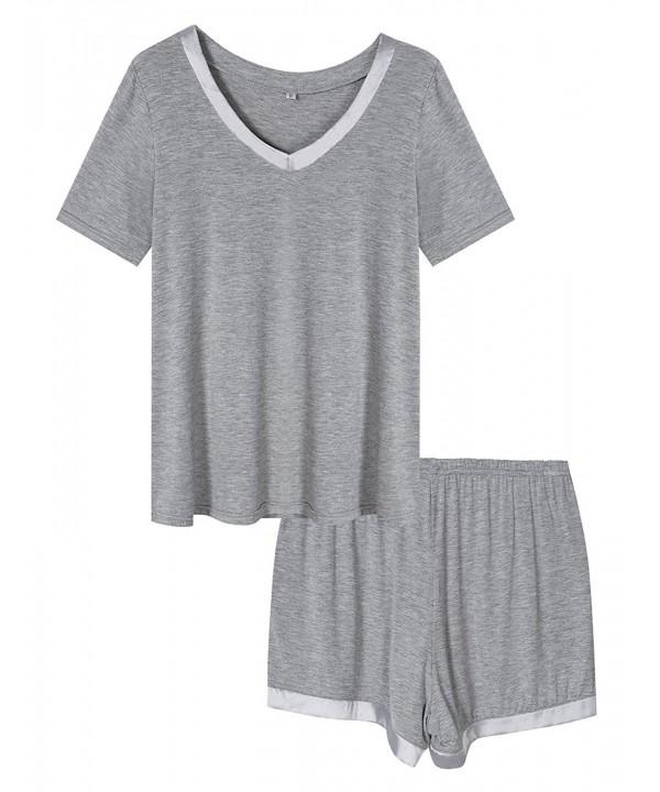 HiMiss Pajamas V Neck Comfortable Sleepwear