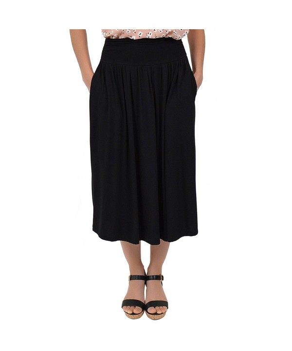 Stretch Comfort Womens Pocket Skirt