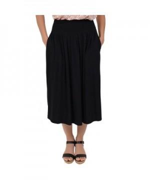 Stretch Comfort Womens Pocket Skirt