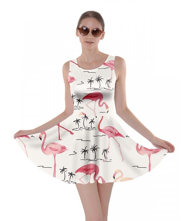 CowCow Colorful Flamingo Pattern White L