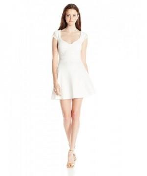 Trixxi Juniors Sleeve Dress Ivory