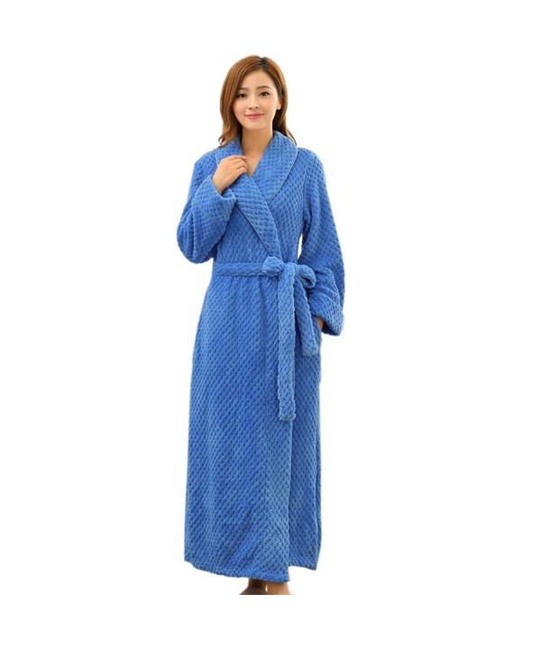 Hellomamma Womens Microfiber Bathrobe 1516Blue