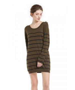 KNITBEST Womens Sleeve Sweater Olive Drab