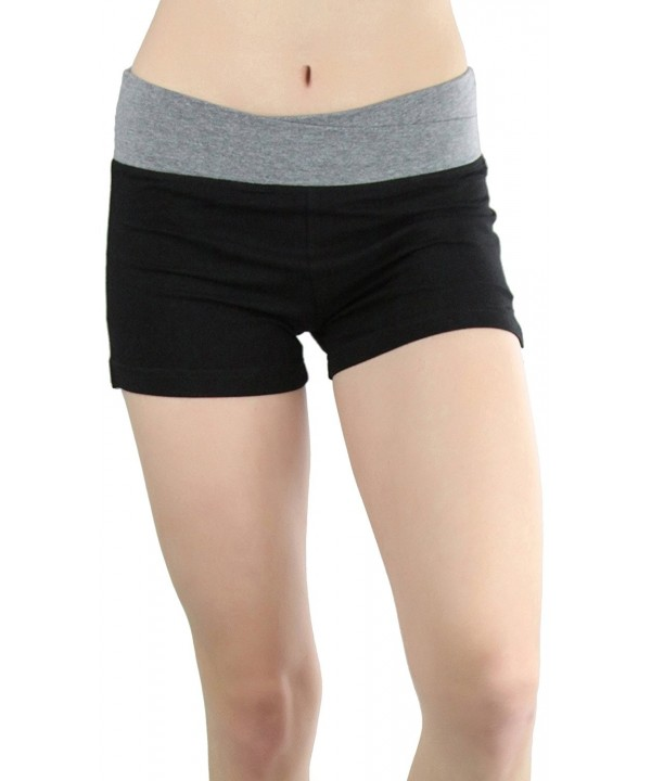 ToBeInStyle Womens Contrast Cross Wasitband Shorts