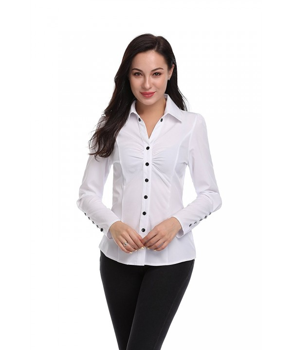 Argstar Womens Sleeve Button Shirt