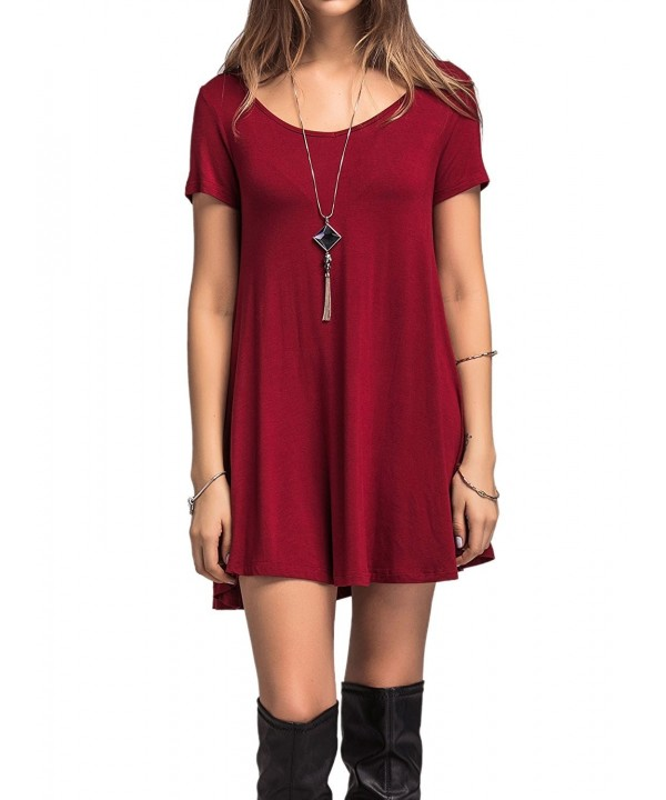 Adreamly Womens Casual Burgundy 3X Large
