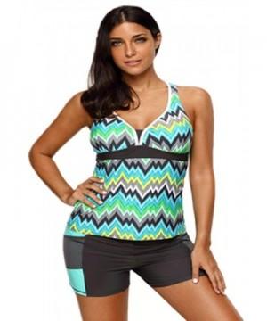 Shawhuwa Tankini Swimsuit Swimwear XXL