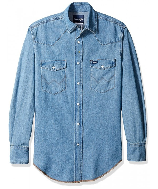 Wrangler Mens Motorcycle Denim Shirt