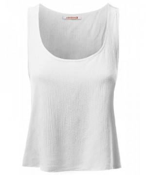 5d06ccdf3da069 Women s Casual Cute Tank Top Sleeveless T-Shirts - Awttk0260 White ...