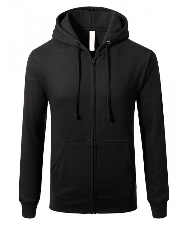 Sleeve Lightweight Zip up Hoodie Pocket