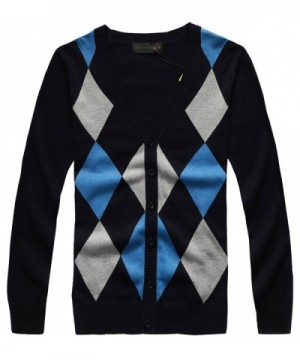 Fanhang Knitted Cardigan Sweater Diamond