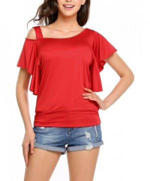 Easther Womens Shoulder Sleeve T shirt