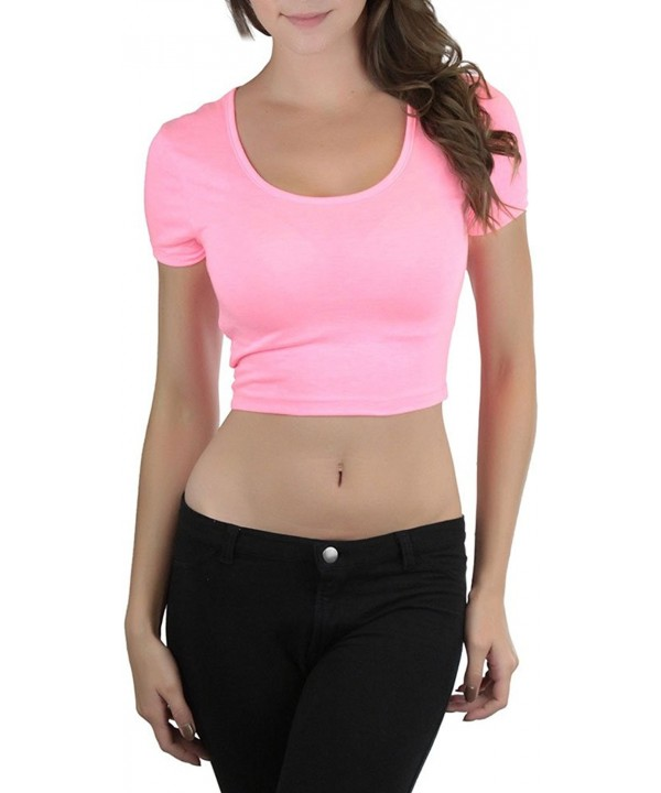 ToBeInStyle Womens Basic Crop Tee Large