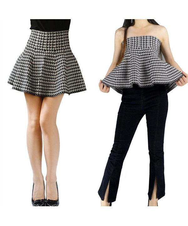 YSJ Knitted 17 inch Length Houndstooth