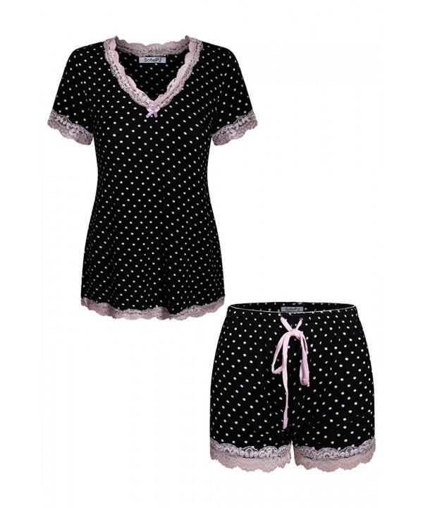 SofiePJ Spandex Printed Sleepwear LaceTrim