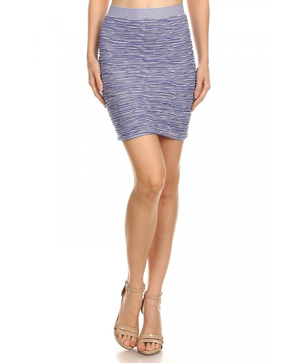 Simlu Womens Bodycon Mini Skirt
