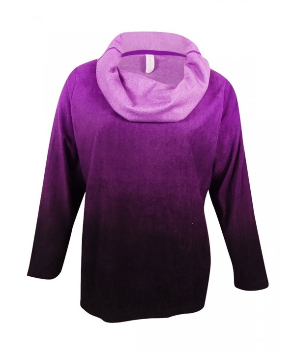 Ideology Womens Fleece Pullover Purple