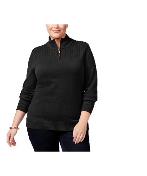 Karen Scott Womens Turtleneck Sweater
