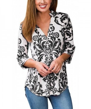 Hibluco Womens V neck T Shirt Asymmetry