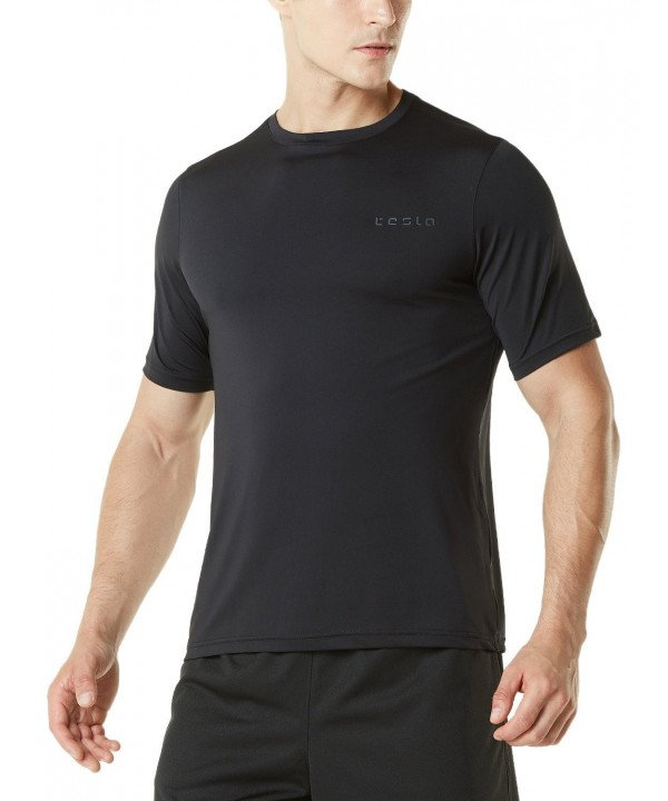 Tesla TM MTS04 BLK_Large HyperDri T Shirt Athletic