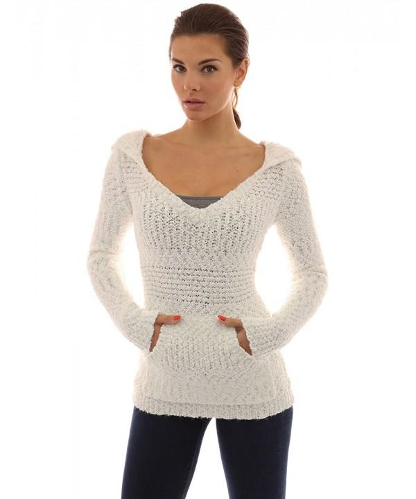 PattyBoutik Womens Hoodie Sweater Off White