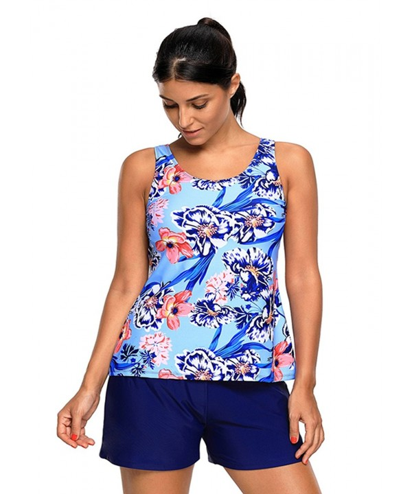 Tiksawon Printed Tankini Swimsuit Swimwear