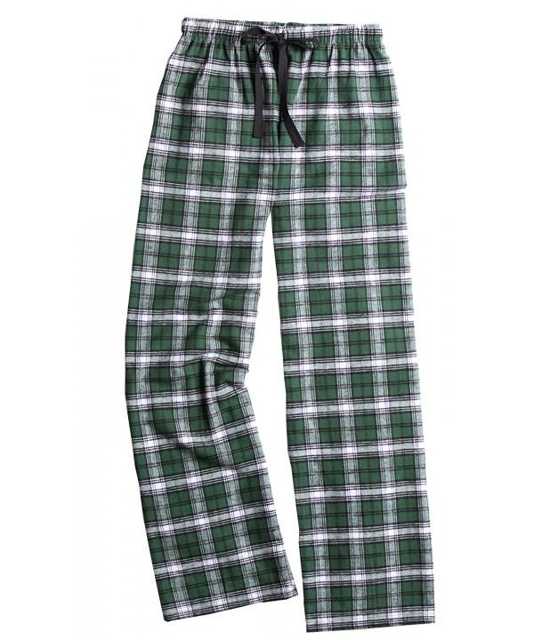 Boxercraft Flannel Pajama Pants Green White Large